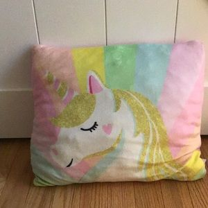 Small Colorful unicorn pillow